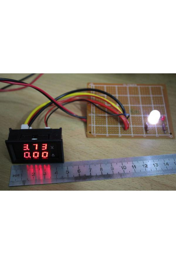 Вольтамперметр, совмещенный, красного свечения. 0-100А, 0-10А.