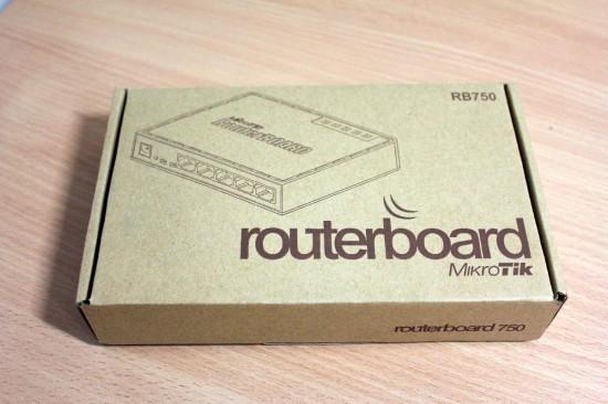 Mikrotik RB750 коробка
