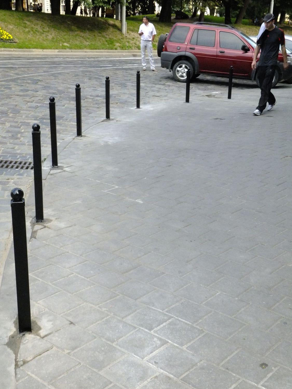 Складные столбы для парковки своими руками
