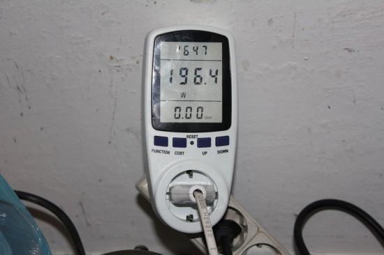 ВСН-1, максимально потребляемая мощность на холостом ходу в режиме 75Гц