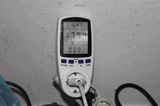 ВСН-1, максимально потребляемая мощность на холостом ходу в режиме 50Гц