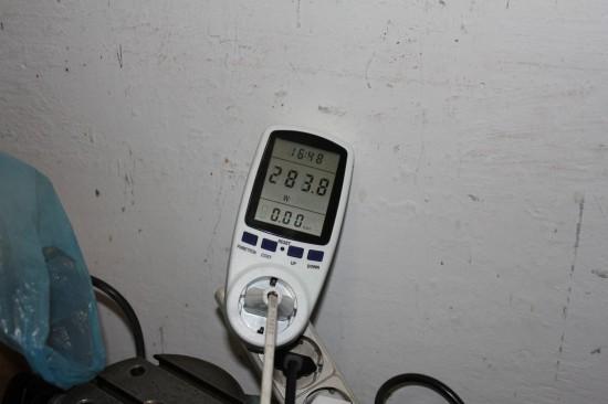 ВСН-1, потребляемая мощность при сверлении стали