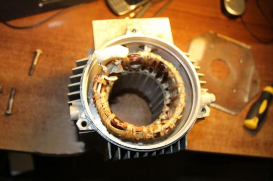 Сверлильный станок ВСН - статор двигателя