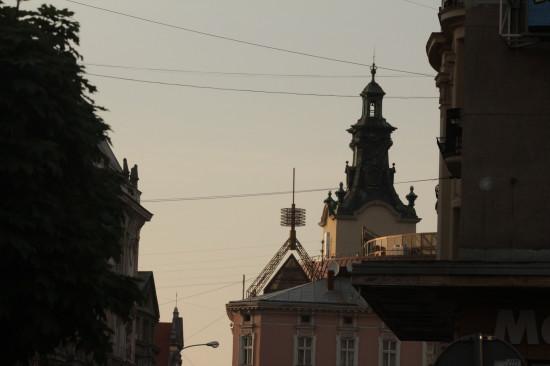 Вид с улицы Академической во Львове