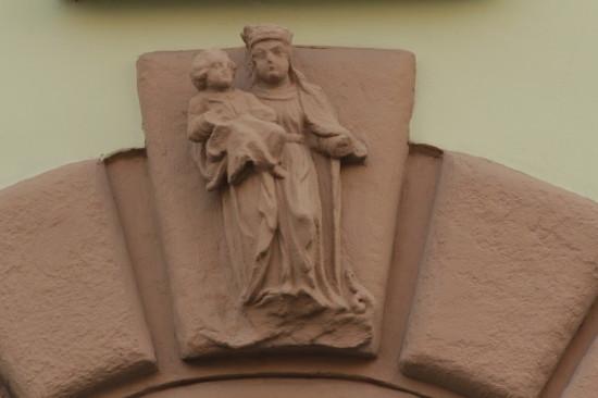 Элемент фасада на площади Рынок во Львове