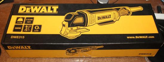 dewalt dwe315 - шлиф-насадка - картонная коробка