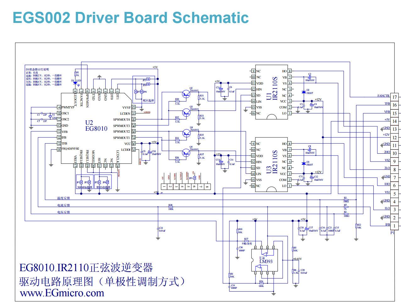 1 шт. Чистый синусоидальный инвертор драйвер платы egs002 eg8010 +.